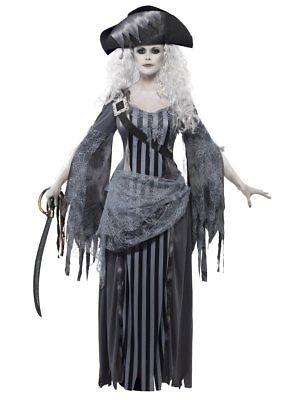 Smiffys Geisterschiff Prinzessin Seemanns See Erwachsene Damen Halloween Kostüm