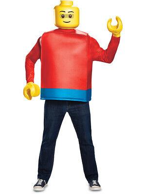 Adult's Iconic LEGO® Man Minifigure Costume X-Large 42-46 - Lego Man Costume