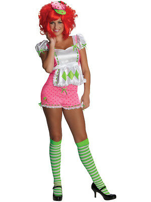 Strawberry Costume Women (Womens Adult Strawberry Shortcake Sexy)
