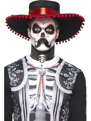 Señor Knochen Make-Up Kit und Aufkleber Skelett Halloween Horror Tag der (Tag Der Toten Make Up Kit)