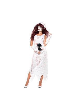Kostüm Zombie Braut Weiß Blutig - Blutige Zombie Kostüm