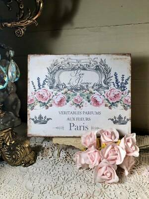 Shabby French Cottage, Rose De Provence,Handcrafted Plaque
