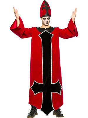 Mens Evil Bishop Summoner Of Religious Demons Costume (Religious Costume)