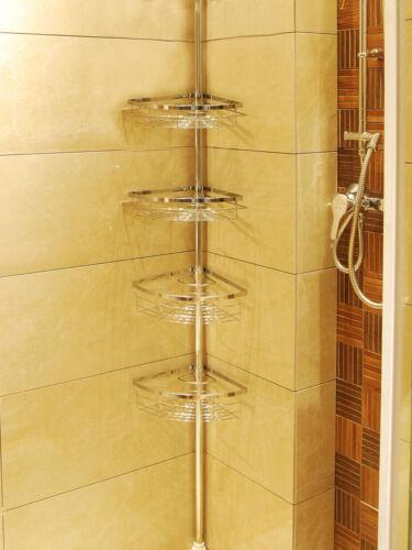 lifewit 4 tier adjustable tension corner pole caddy bathroom shower caddy holder