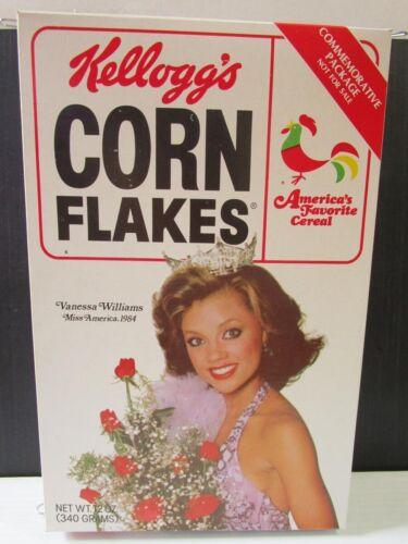 Vanessa Williams Corn Flakes Cereal Box 1984 Miss America Commemorative Kelloggs