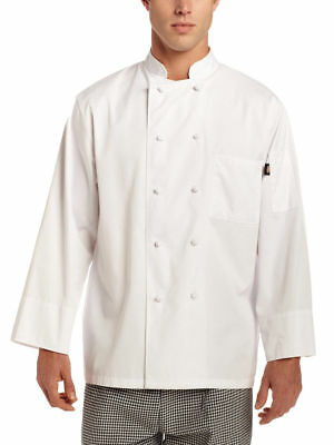 Chefs Coat Knotted Cotton Buttons (Dickies Chef Adult Short Sleeve Knot Button Thermometer Pocket Chef Coat. DC48 )