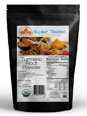 Tumeric Organic Root Powder 100  Pure  Curcuma Longa  Turmeric 1 Lb