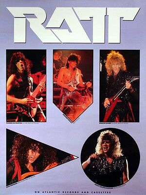 RATT 1985 INVASION OF YOUR PRIVACY VINTAGE PROMO POSTER ORIGINAL
