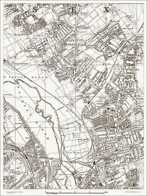 Leyton, Stratford (N) Map 1888 Gtr London #12