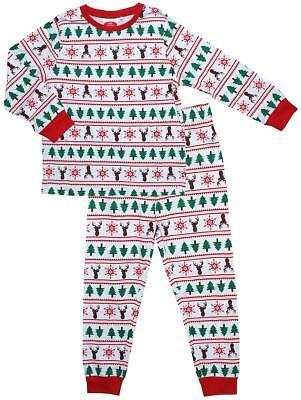 Womens Mens Adult Unisex Reindeer Snowflake Xmas Tree Christmas Pyjamas XS to XL