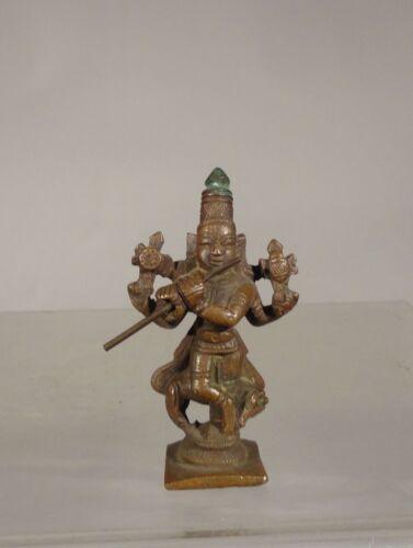 Antique Indian Copper Bronze Deity Buddhist Figure Hindu Vishnu Miniature