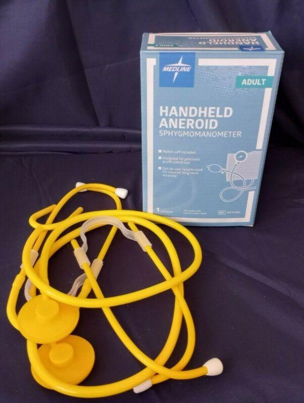 Medline Large Adult Handheld Aneroid Sphygmomanometer, MDS9380