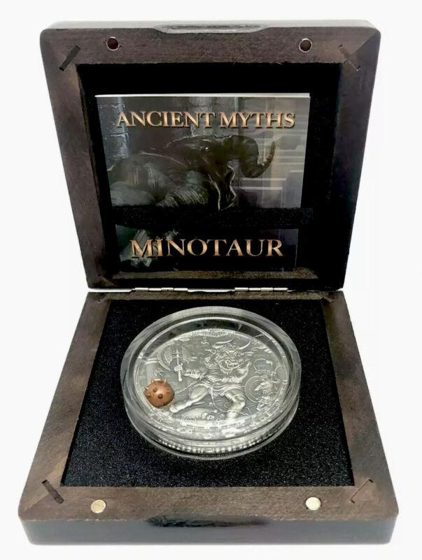 2017 Niue MINOTAUR Ancient Myths II Oz Silver Coin $5