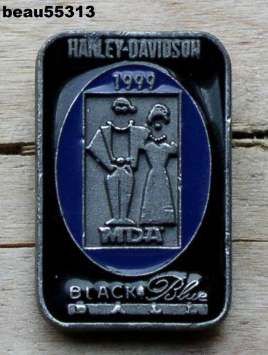 """VERY RARE"" 1999 HARLEY DAVIDSON MDA JERRY LEWIS BLACK & BLUE VEST JACKET PIN"