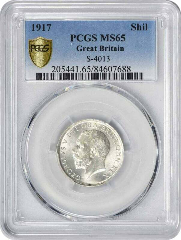 1917 Great Britain Shilling MS65 PCGS