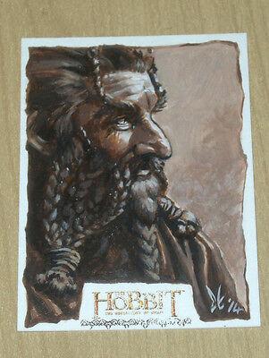 2015 Cryptozoic Hobbit Smaug sketch fine art card Carolyn Edwards 1/1 NORI