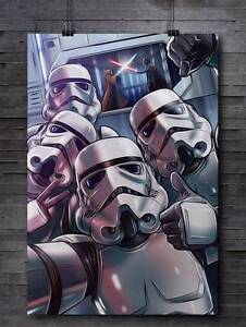 "Limited Edition Star Wars Stormtrooper ""Selfie"" Poster (24x36) Wattle Grove Liverpool Area Preview"