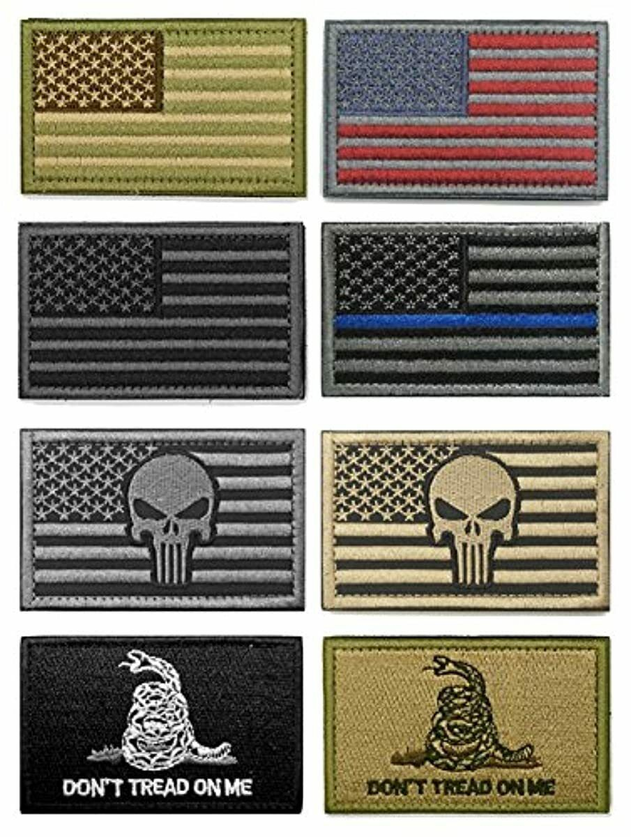 WZT Bundle 8 Pieces American Flag Tactical Morale Military P