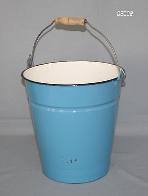 Blauer EMAILLEEIMER 10 Liter-Eimer THALE Email alte Form zum Bepflanzen als DEKO