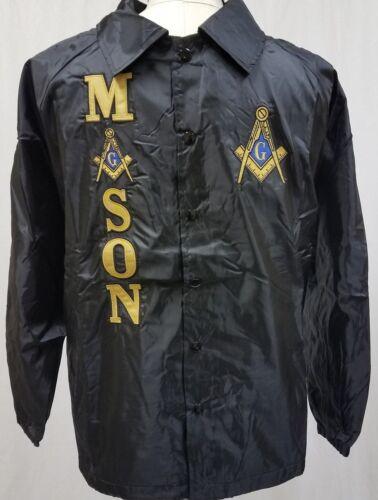 Mason Masonic Line Jacket-Black- Size 2XL- New!