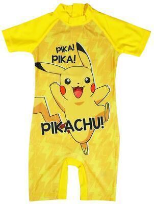 Jungen Pokemon Pikachu Kostüm Sonnenschutz Alles in One Surf Badeanzug 1.5 To 5 ()