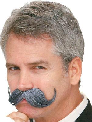 Morris Costumes Men's Handle Bar Latex Grey Quality Mustache . PM531362