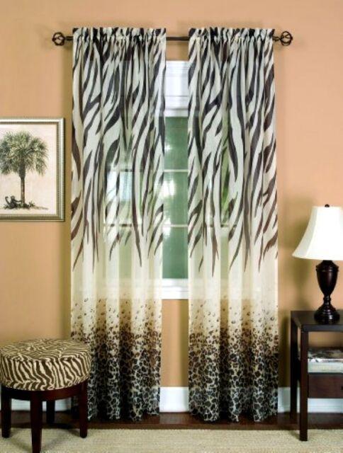 Achim Home Furnishings Kenya Curtain Panel 50-inch by 84inch Brown ...