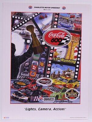 "Charlotte Speedway 2014 Coca-Cola 600 ""Lights, Camera, Action!"" Sam Bass Poster"