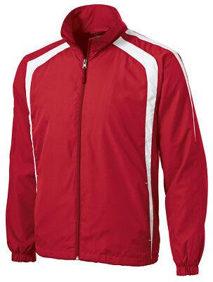 (Sport-Tek Men's Long Sleeve Polyester Summer/Fall Shell Jacket. 2XL Red New)