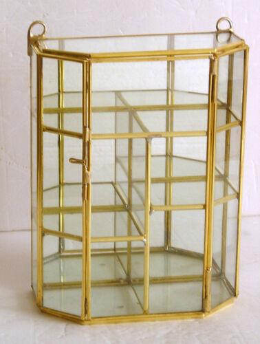 Glass & Brass Small  Curio Display Cabinet