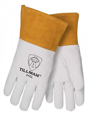Tillman 24c Small Tig Welding Gloves Top Grain Kidskin Leather W 4 Cuff 1 Pair