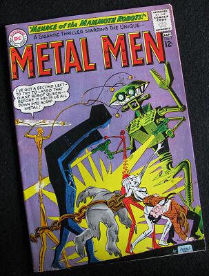 METAL MEN 5 (1963) TIN -- MARRIED TO AN ALIEN ROBOT QUEEN? VG/FN! LARGE PHOTOS!