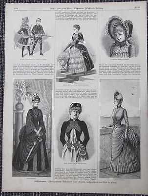 Frühlingsmode Promenadenkostüm HOLZSTICH von 1885 Modelltoilette Mode Kleider