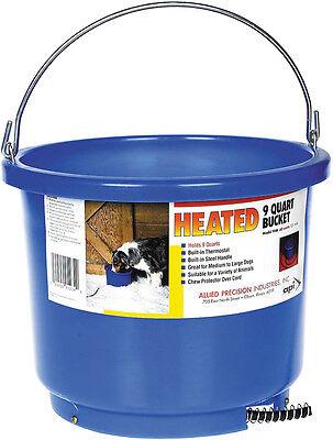 Allied Heated Water Bucket Heavy Duty Plastic 6ft Cord Keeps Ice Free 9 Quart