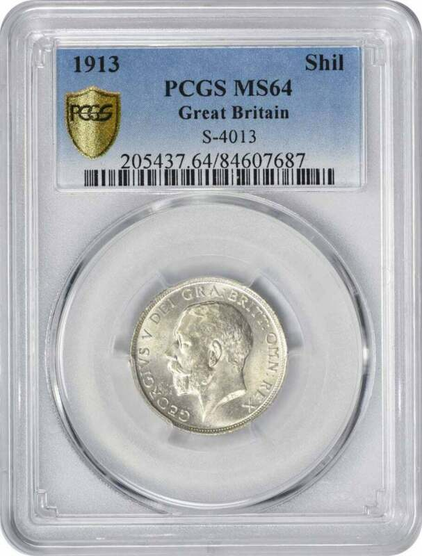 1913 Great Britain Shilling MS64 PCGS