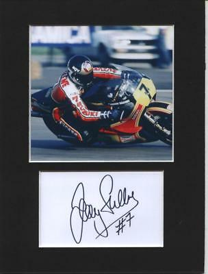 Barry Sheene photo print gift printed 8x6 mounted display