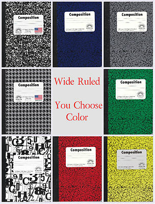 New Composition Notebooks by Norcom Wide Ruled ~ 100 Sheets (Qty 1) ~ You - Composition Notebooks