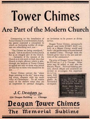 1930 AD  DEAGAN TOWER CHIMES DEDICATION PLAQUE PACKARD FAMILY segunda mano  Embacar hacia Argentina
