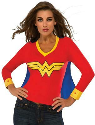 Womens Superhero Shirts With Cape (DC Superheroes Wonder Woman Sporty Tee Shirt With Cape Size)