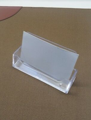 10 Clear Plastic Acrylic Business Card Holder Stand Rg1722