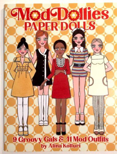 Retro Dress Up! MOD DOLLIES Paper Dolls - by Alina Kolluri