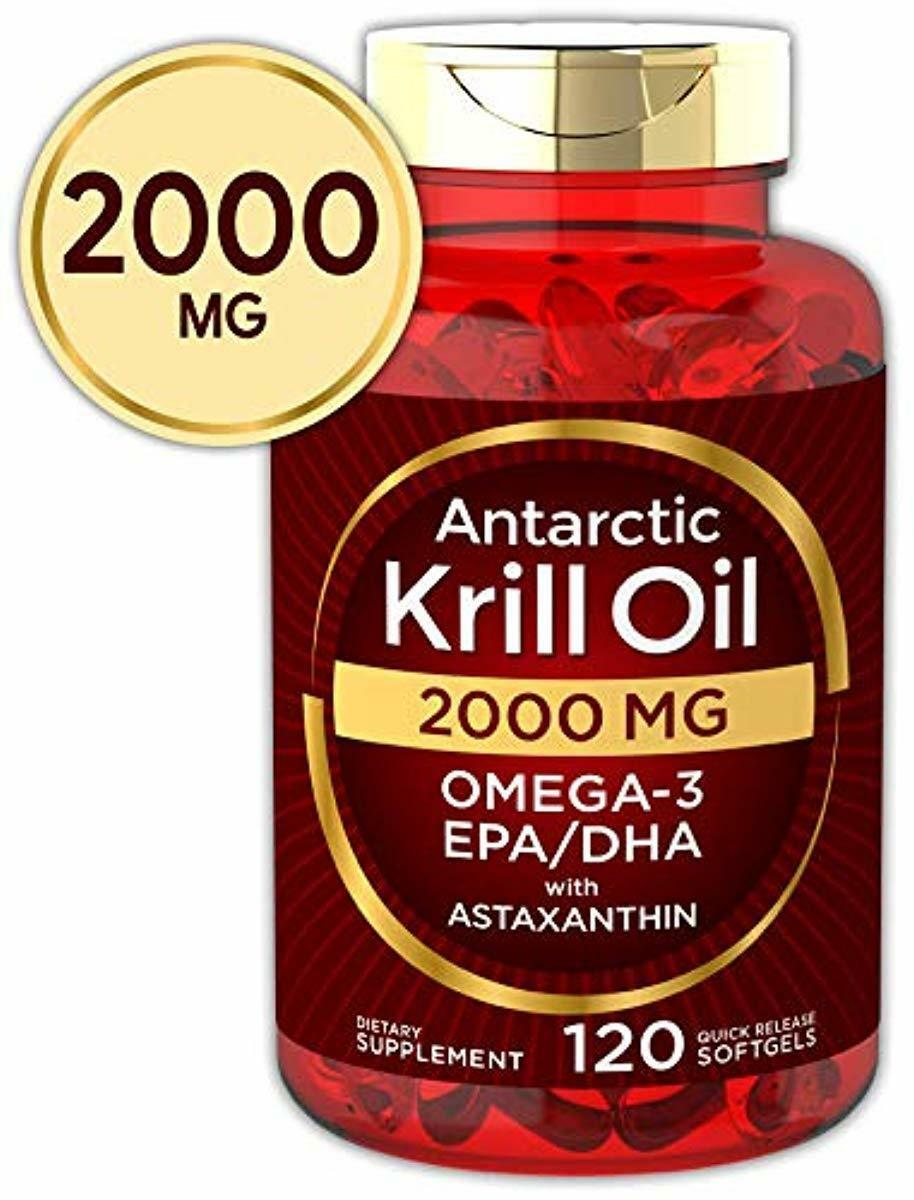 Antarctic Krill Oil 2000 mg 120 Softgels   Omega-3 EPA, DHA,