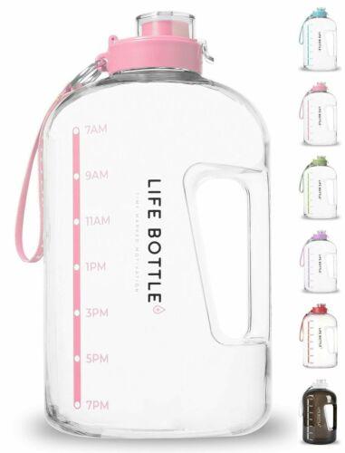 ! Botella De Agua Con Marca De Tiempo - Botella De Agua De 1 Galon Con Marcador