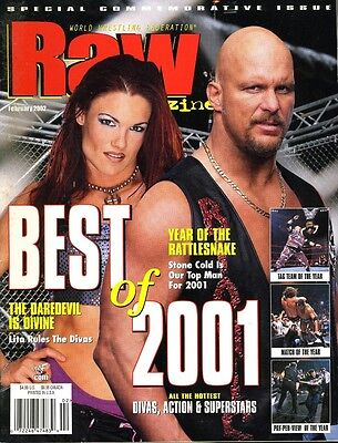 Best of 2001 STEVE AUSTIN/LITA WWF Raw Wrestling Magazine February