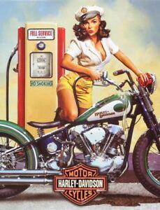 Harley davidson Vintage Retro Metal Tin Sign Poster Plaque Garage Wall Decor A4