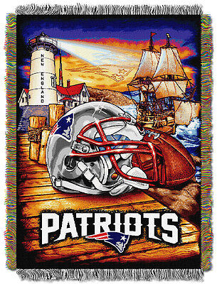 (New England Patriots Home Field Advantage Woven Tapestry Throw)