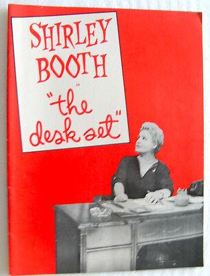 Shirley Booth THE DESK SET 1955 souvenir program Frank Milan