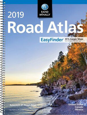 Rand Mcnally USA Road Atlas 2019 BEST Large Scale Travel Maps United States NEW ()