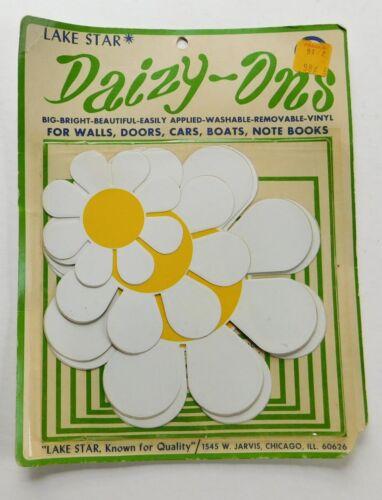 "Vinyl Stick On Daisy Flower Power Daisies Daizy Large 6"""