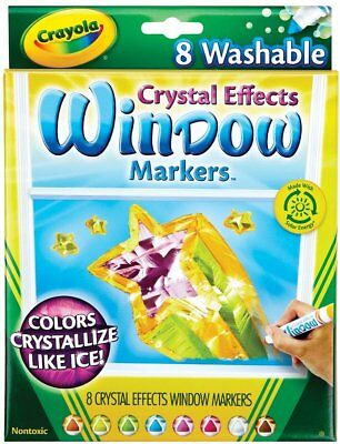Crayola Window Markers with Crystal Effects](Crayola Window Markers)